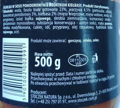 Fasolka po bretońsku z dodatkiem kiełbasy - Ingredients