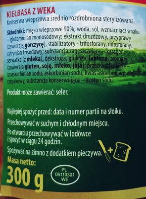 Kiełbasa z weka - Ingredients - pl