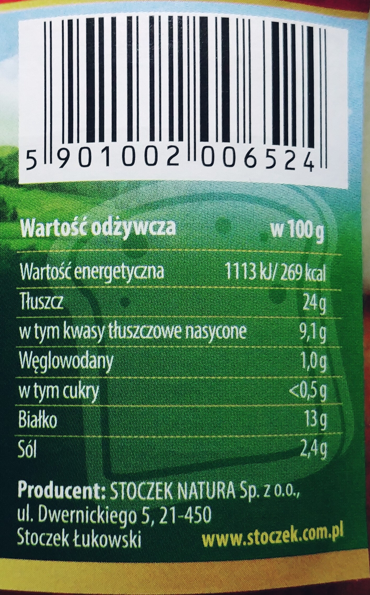 Kiełbasa z weka - Nutrition facts - pl