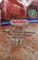 Sól różowa naturalna kamienna z kopalni Soli ';Kłodawa'; gruboziarnista. - Produkt