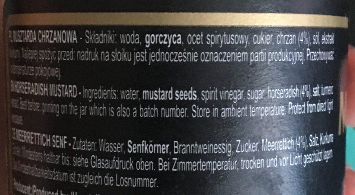 Musztarda delikatesowa chrzanowa - Ingrédients