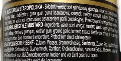 Musztarda delikatesowa staropolska - Składniki - pl