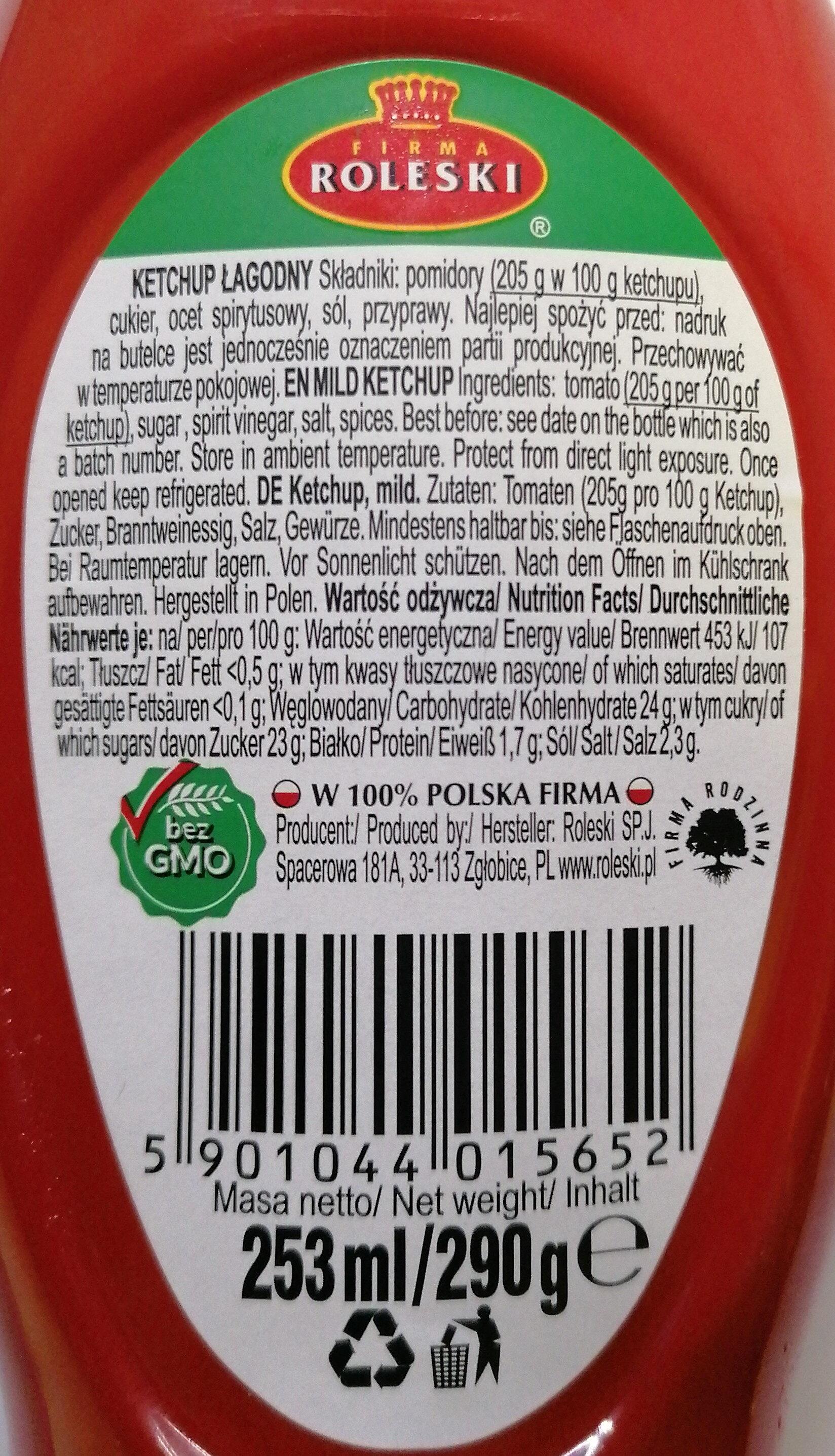 Ketchup łagodny - Ingrédients