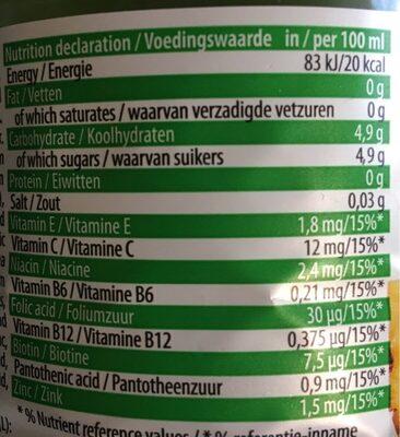 Dr witt multivitamin - Nutrition facts - pl