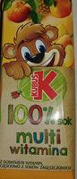Sok wieloowocowy marchwiowy z dodatkiem witamin - Produkt
