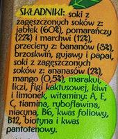 Sok wieloowocowy marchwiowy z dodatkiem witamin - Składniki