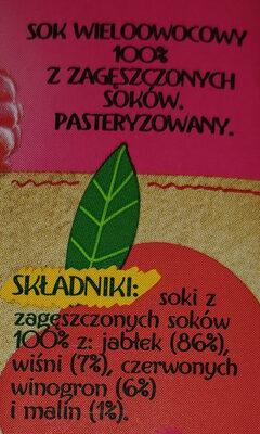 Sok wieloowocowy z zagęszczonych soków. - Składniki - pl