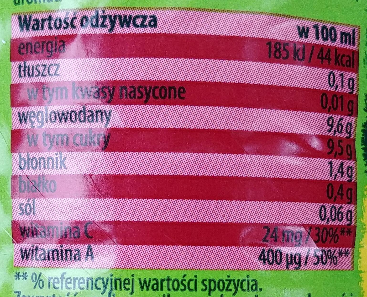 Kubus - Carrot-apple-raspberry Juice - Wartości odżywcze - pl