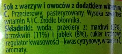 Теди морковь, персик, яблоко. - Składniki - pl