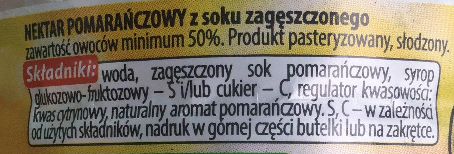 Nektar pomarańczowy - Składniki - pl