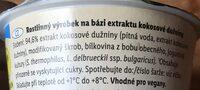 Kokos vegangurt natur - Ingrédients - cs