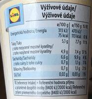 Kokos vegangurt natur - Informations nutritionnelles - cs