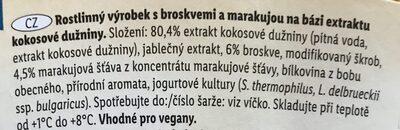 Kokos vegangurt - broskev marakuja - Ingrédients - cs