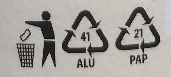 Vegangurt malina a klikva - Instruction de recyclage et/ou informations d'emballage - cs