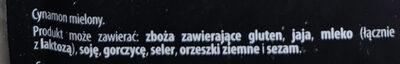 Cynamon - Ingredients - pl