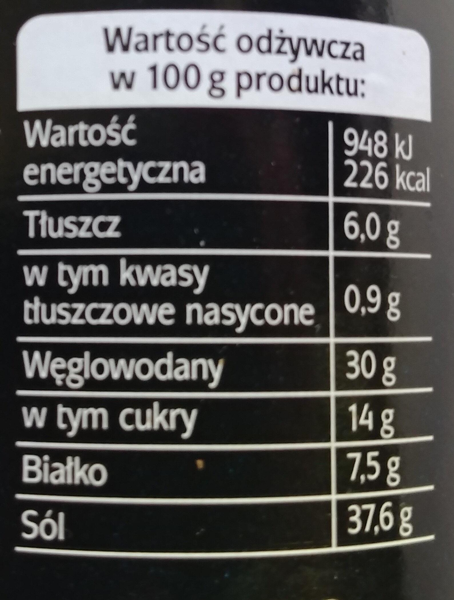 Grill - przyprawa klasyczna - Wartości odżywcze