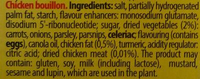 Chicken bouillon - Ingredients - en
