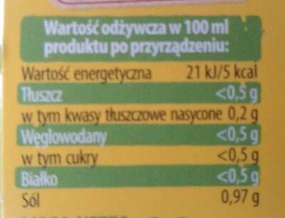 Bulion warzywny - Nutrition facts - en