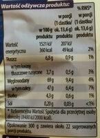 Biszkopty z galaretką malinową w czekoladzie - Wartości odżywcze
