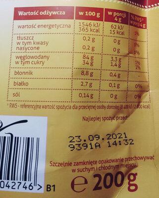 Rozpuszczalna kawa zbożowa z karmelem - Wartości odżywcze - pl