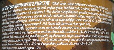 Skandynawski pasztet o smaku łososiowym - Składniki - pl