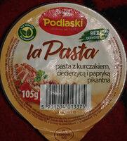Pasta z kurczakiem, ciecierzycą i papryką - Produkt - pl