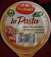 Pasta z kurczakiem, ciecierzycą i papryką - Składniki - pl