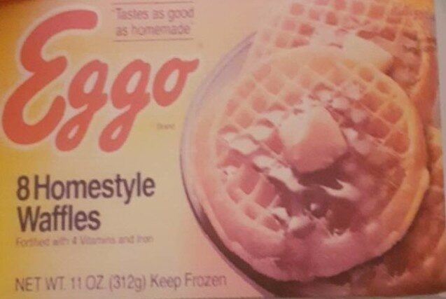 Homestyle waffles - Product - fr