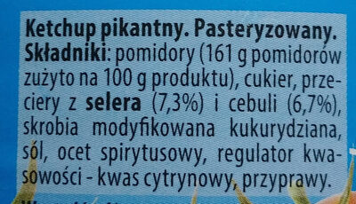 Ketchup pikantny - Ingredients