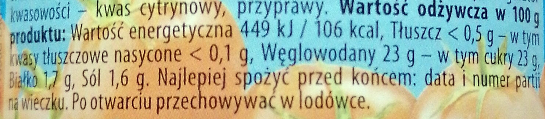 Ketchup łagodny - Nutrition facts - pl