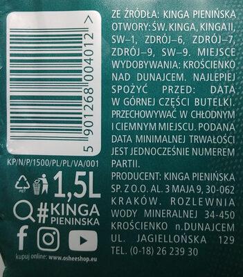 Naturalna woda mineralna - Produkt - pl