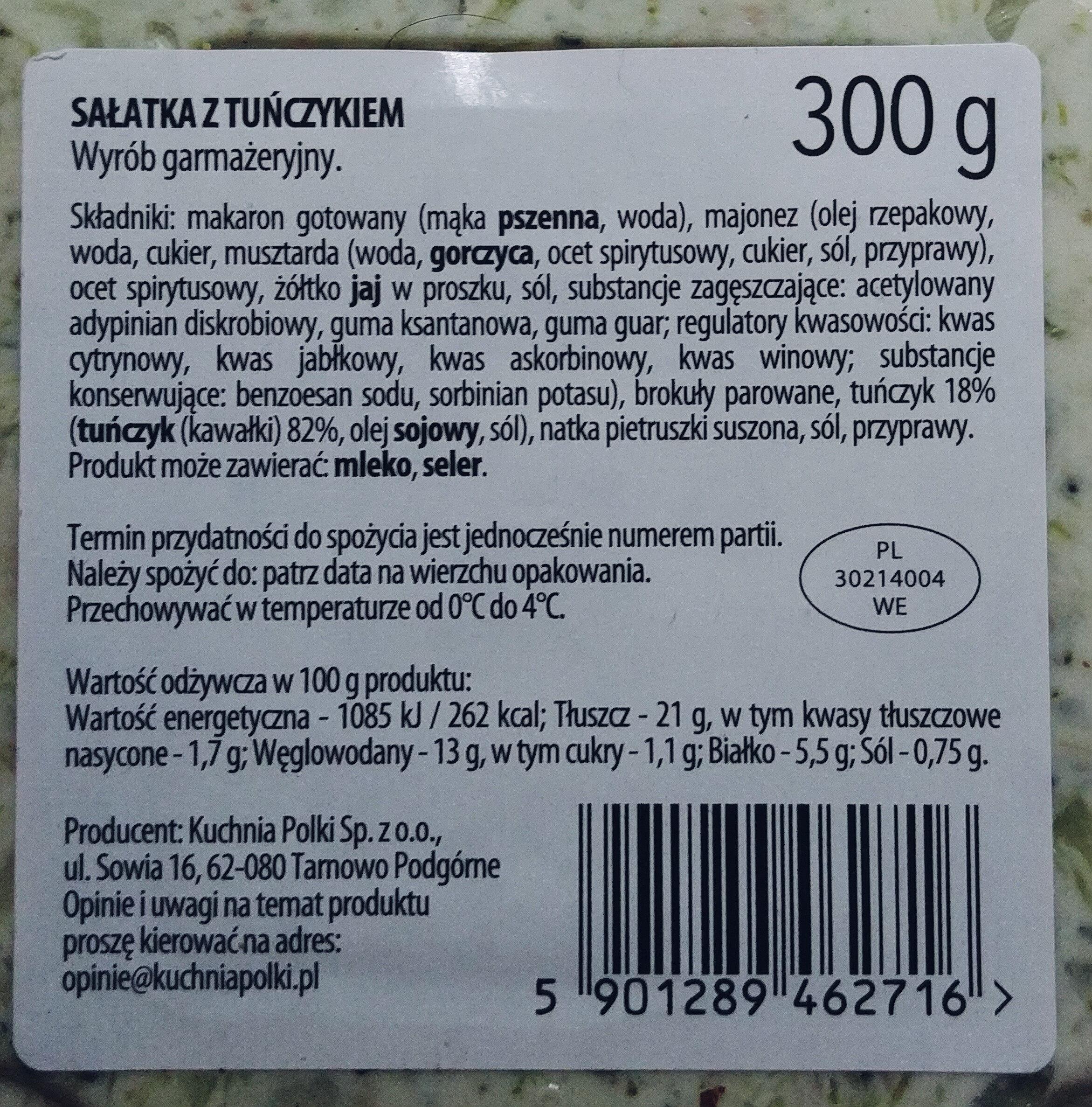 Sałatka z tuńczyka - Ingredients
