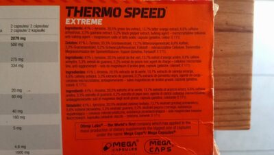 Olimp Sport Nutrition Thermo Speed Extreme Mega? - Ingrediënten