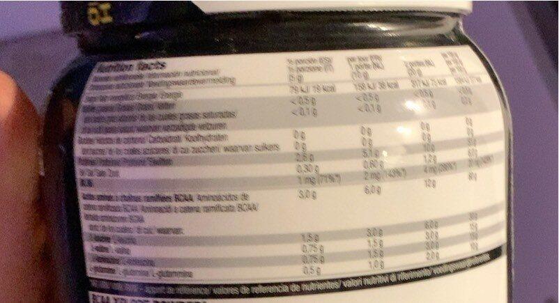 BCAA - Valori nutrizionali - fr
