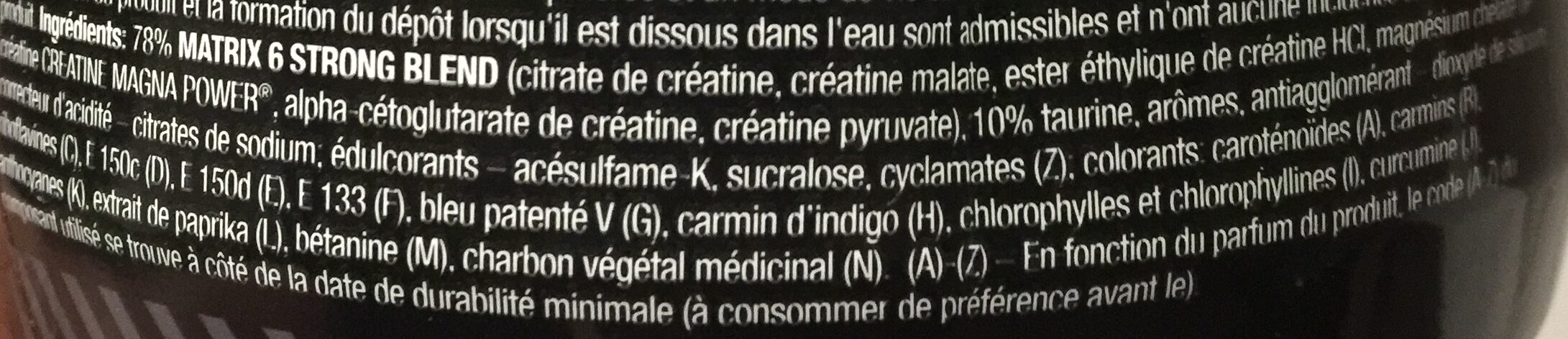 Creatin Xplode Powder - Ingrédients - fr
