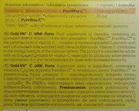 Gold-Vit C, 1000 Forte - Wartości odżywcze - pl