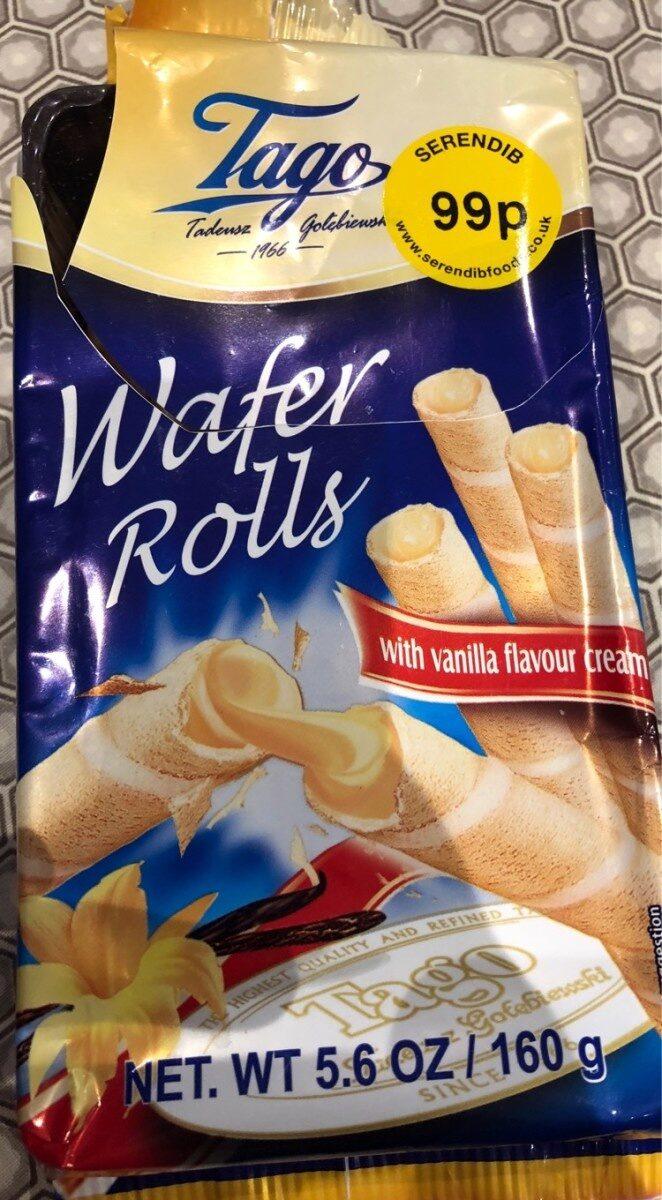 Wafer Rolls with Vanilla Flavour Cream - Produkt - pl