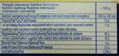 Ciasteczka owsiane z sezamem - Voedingswaarden - pl