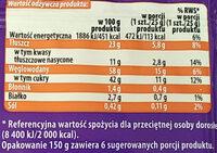 Mini roladki biszkoptowe z nadzieniem o smaku morelowym (20%) i kremem o smaku waniliowym (36%). - Wartości odżywcze - pl