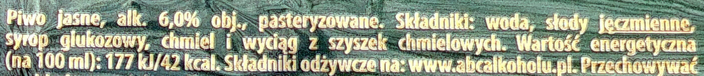 Piwo ŻUBR - Wartości odżywcze - pl