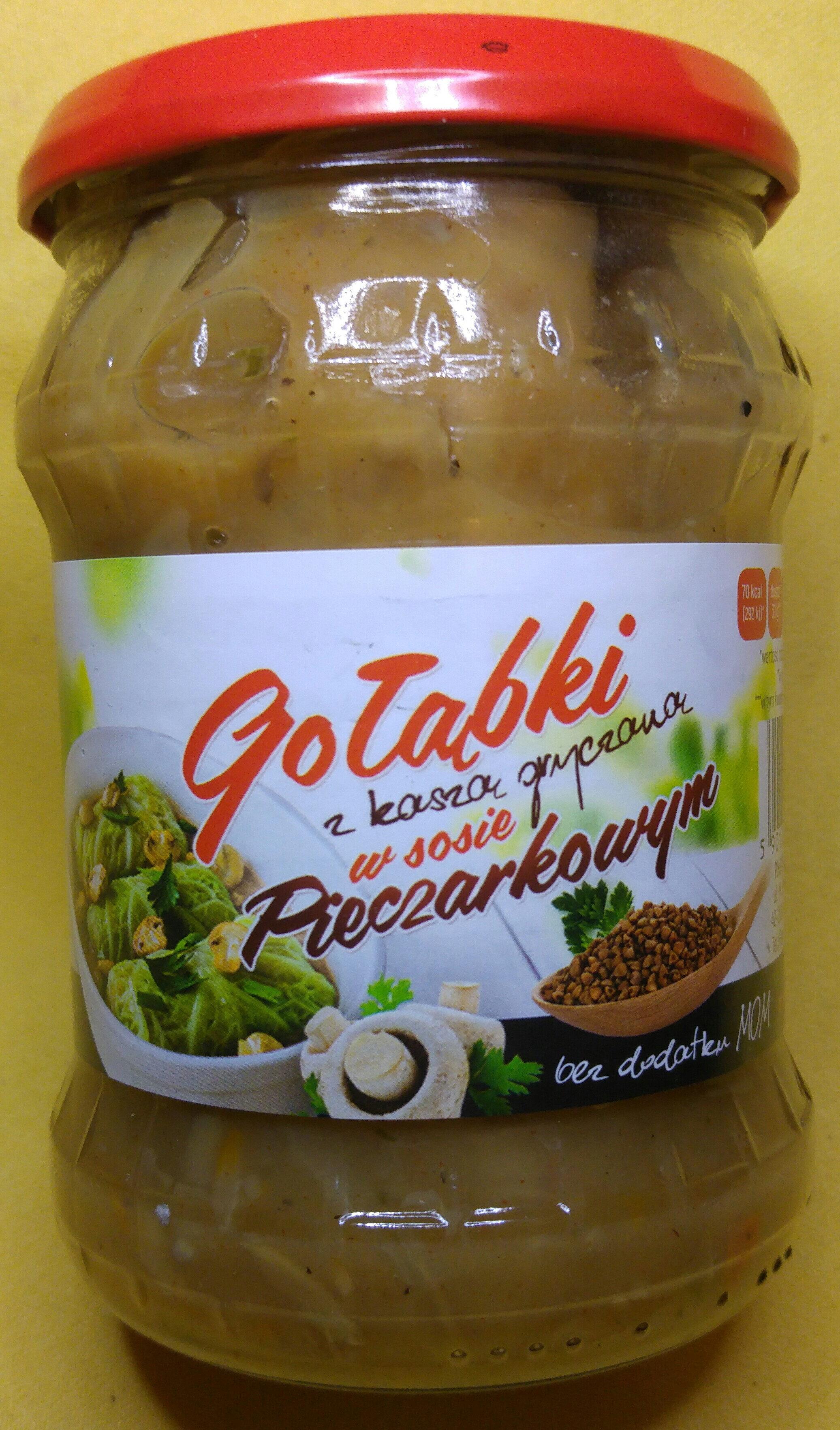 Gołąbki z kaszą gryczaną w sosie pieczarkowym. - Produkt - pl