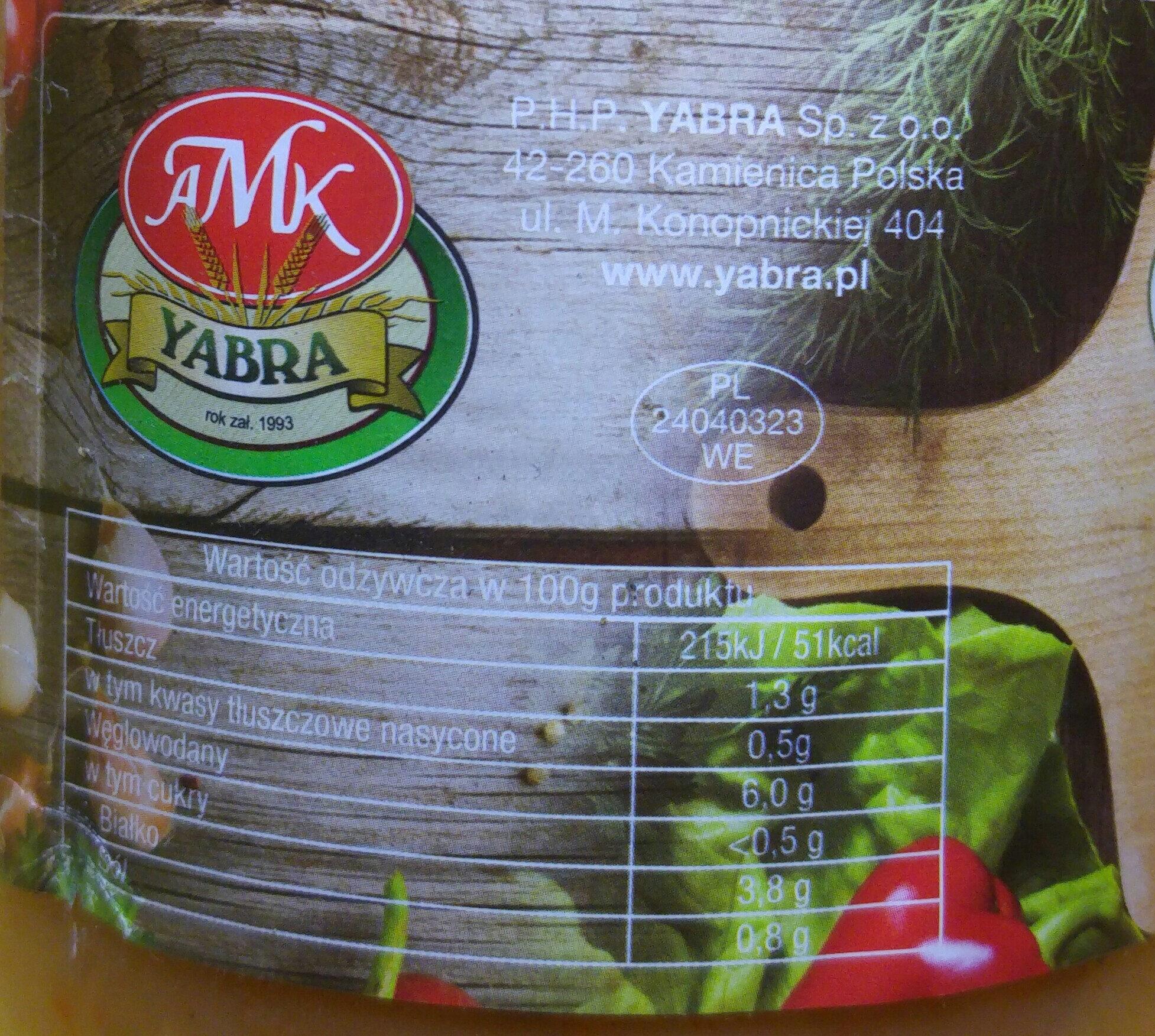 Zupa gulaszowa. - Nutrition facts - pl
