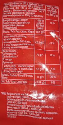 Makaron Nadarzyński - Wartości odżywcze - pl