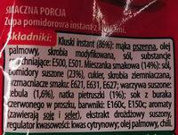 Zupa pomidorowa instant - Składniki - pl