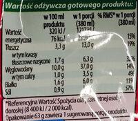 Zupa pomidorowa instant - Wartości odżywcze - pl