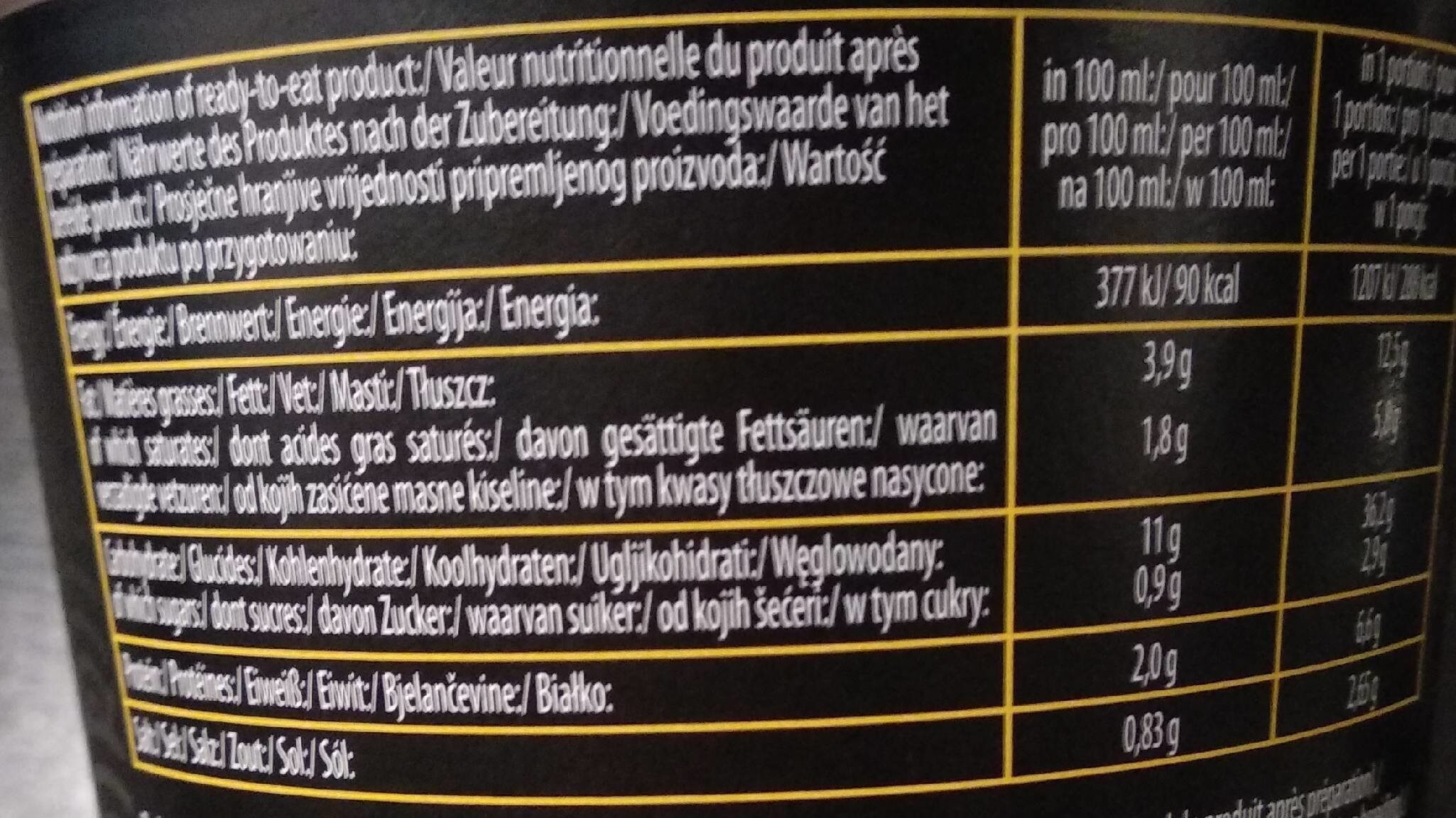 OYAKATA chiken RAMEN SOUP - Informations nutritionnelles - fr