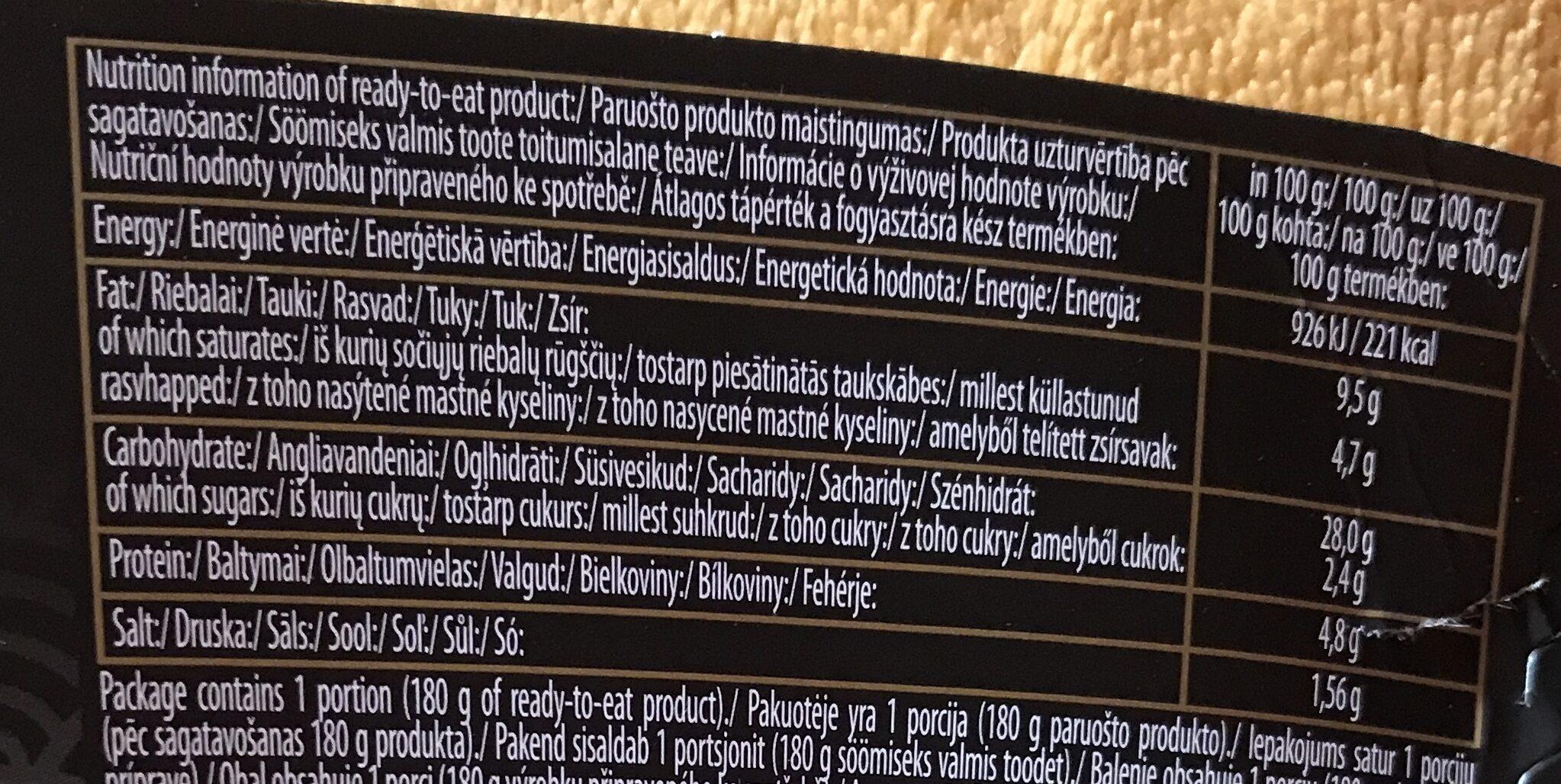 Nudle s curry příchutí - Informations nutritionnelles - cs