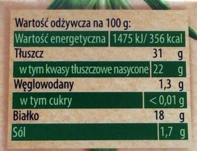 Ser pleśniowy camembert z ziołami - Wartości odżywcze