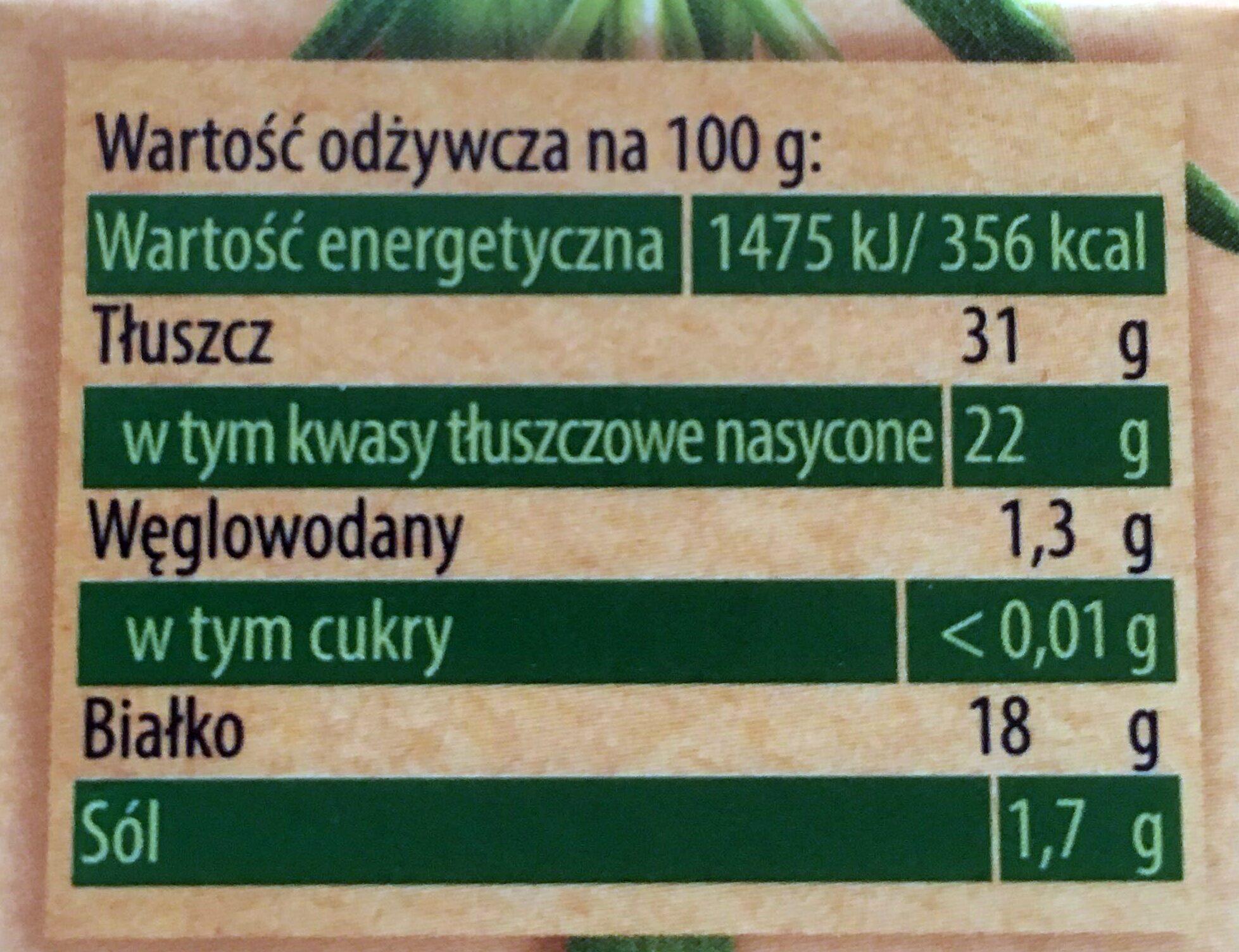 Ser pleśniowy camembert z ziołami - Wartości odżywcze - pl