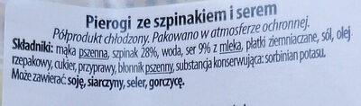 Pierogi ze szpinakiem i serem - Składniki - pl